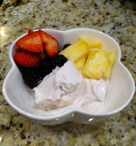 Paleo Ice Cream with Fruit