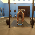 That's me getting psyched to dead lift.
